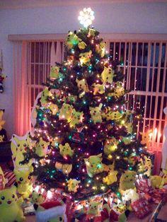 I want a Pokemon Christmas tree! Pokemon Gif, Pokemon Stuff, Pokemon Comics, Pokemon Cards, Christmas Time, Merry Christmas, Christmas Pokemon, Christmas Ideas, Holiday Ideas