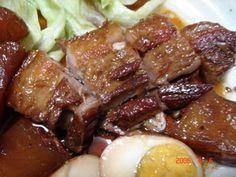 Japanese recipe of slow cooker pork 豚の角煮