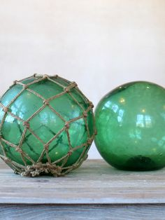GLASS FISHING FLOATS - vintage summer accents
