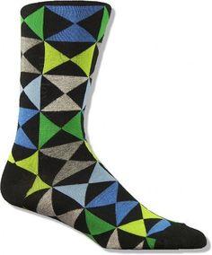 The Joy of Socks - Black Triangle Squares Socks (Men's), $8.50 (http://www.joyofsocks.com/black-triangle-squares-socks-mens/)