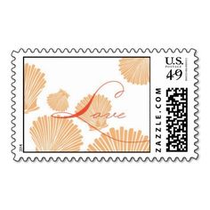 Sea Shells LOVE Stamp coral