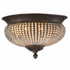 @Overstock - Cristal De Lisbon 2-light Oil Rubbed Bronze Flush Mount - This lovely Cristal De Lisbon crystal light from Uttermost is beautifully crafted from bronze metal details and rows of glass beads. The two-light design ensures brilliant illumination in any room.    http://www.overstock.com/Home-Garden/Cristal-De-Lisbon-2-light-Oil-Rubbed-Bronze-Flush-Mount/7884351/product.html?CID=214117  $250.80