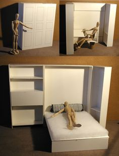 3 bay armoire/murphy bed