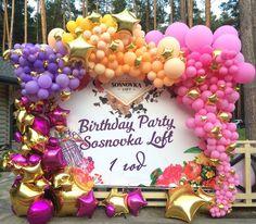 Гирлянда из шаров Аэроинсталляция garland baloons фотозона в клубе оформление фотозон шары фольгированные