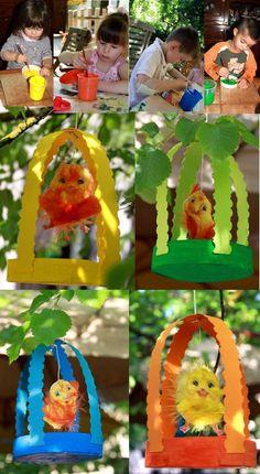 vogel in kooi kleuters cretation bricolage paques - Page 4 Kids Crafts, Animal Crafts For Kids, Summer Crafts, Decor Crafts, Diy For Kids, Arts And Crafts, Spring Activities, Craft Activities, Art N Craft