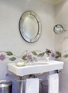 Penthouse Holland Park  April Russell Luxury bespoke interiors Mosiacs Bathroom