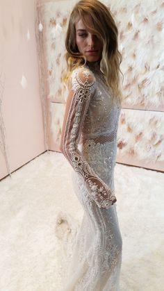 Gala by Galia Lahav wedding dress with long sleeves.