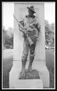 Belle Isle Park: Soldier, Spanish-American War Monument--Detroit MI