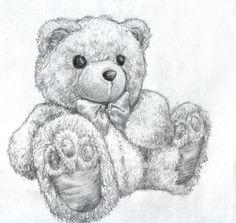 pencil drawings of teddy bears