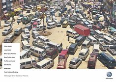 Volkswagen Print Advert By DDB: Total Mess - Bolivia, India, Nigeria Volkswagen, Cannes, Pedestrian Crossing, Communication Art, Traffic Light, Am Meer, Advertising Campaign, Print Ads, City Photo