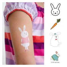 Easter basket gifts | Temporary tattoos from Tattly - so many cute bunny tattoos!