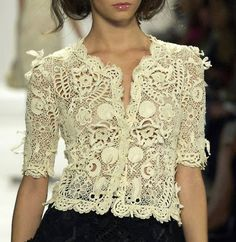 Gorgeous hand crocheted lace top.