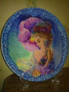 Тарелка «Фея» http://dcpg.ru/blogs/442/ Click on photo to see more! Нажмите на фото чтобы увидеть больше! decoupage art craft handmade home decor DIY do it yourself plate