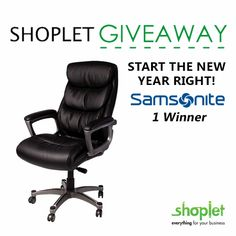 Start the New Year right! Introducing the first #Shoplet #Giveaway of the year… Win a Samsonite Premium Bonded Leather #OfficeChair! #BacktoWork