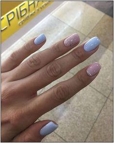cute nail art designs for short nails 2019 page 17 Cute Nail Art Designs, Colorful Nail Designs, Gel Polish Designs, Nagel Gel, Stylish Nails, Perfect Nails, Blue Nails, Simple Nails, Short Nails