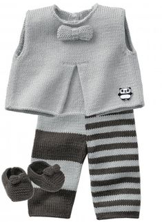 Knitting Ideas for Babies – Babykleidung Baby Knitting Patterns, Knitting For Kids, Baby Patterns, Knitting Ideas, Crochet Patterns, Baby Vest, Baby Cardigan, Baby Outfits, Kids Outfits