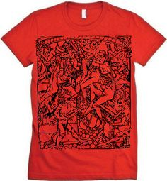 Demons Medieval Woodcut MENS Tshirt by StrangeLandTees on Etsy, $19.00
