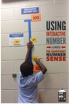 Older students need to move like this too! Learn how to use interactive number lines in your classroom to teach whole numbers, fractions and decimals. Use this fun and interactive math activity to develop conceptual understanding all students. Fourth Grade Math, Second Grade Math, Grade 2, Math Resources, Math Activities, Number Line Activities, Mental Math Strategies, Math Games, Les Mathes