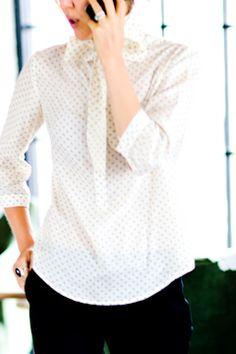 b2426f38f48 airy dotty blouse a la emerson fry.