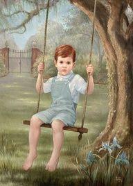 Baron Boy by Brenda Burke Vintage Boys, Vintage Children, Vintage Art, Images Gif, Robert Louis Stevenson, Beautiful Paintings, Love Art, Retro, Little Boys
