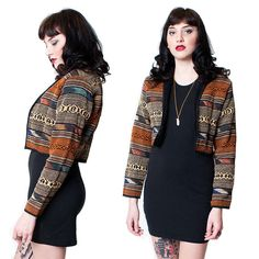 Navajo Crop Western Blazer by rumors on Etsy, $68.00