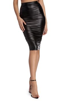 22649fb0af61 9 Best Faux leather pencil skirt images in 2016 | Ladies fashion ...