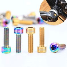 [Visit to Buy] Bicycle Crank Bolts Conical Head Handlebar StemTitanium Screws for MTB Road Bike Buy Bicycle, Bicycle Parts, Used Mountain Bikes, Bicycle Disc Brakes, Bike Prices, Brake Repair, Bicycle Components, Cool Bicycles, Cycling Bikes