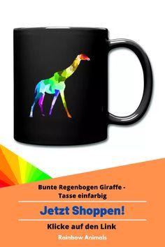 Kaufe dir jetzt diese Tasse für deinen Kaffee oder Tee. Lass dir diese und weitere Tier-Zeichnungen auf deine Accessoires drucken. Lasse dich inspirieren   Schau jetzt in unserem Shop vorbei! Klicke jetzt auf den Link! #Tasse #Kaffee #Tee #Accessoires #Stile #Spreadshirt #Giraffe #Rainbowanimals #Mode #Modeinspiration #Inspiration #Accessoireidee