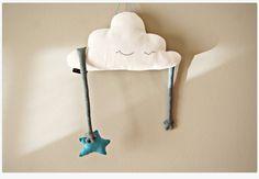 Cloud shaped pillow stuffed toy plush hand softie by milipa