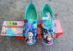 Disney Dzyned Frozen Shoes by DisneyDzyned on Etsy, $70.00