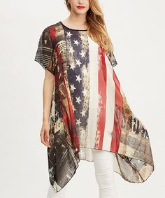 Look at this Simply Couture American Flag Sidetail Tunic on #zulily today!
