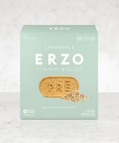 Erica Huss and Zoë Sakoutis introduce ERZO Vitamin Biscuits: a great-tasting way to get your daily dose of prenatal vitamins.