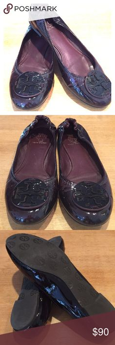 205375c5a6f5d Tory Burch Burgundy Patent Leather Reva Flats Tory Burch Burgundy Patent  Leather Reva Ballet Flats.