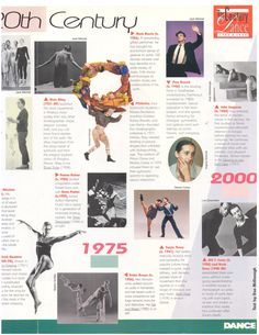 1999 - Dance Magazine - TIMELINE OF MODERN DANCE IN THE 20TH CENTURY - At the turn of the century, the public looked upon dance as a diversion, not a form of artistic expression. The pioneers of modern dance, often performing in vaudiville theaters, chose classical or exotic subjects...3