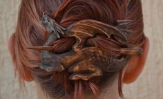 Holz Drachen Haarspange, Geschenk für ihr Haarstab, Holzschnitzerei, Mutter des Drachen Spiel der Throne Schmuck, Holz-Haar-Accessoire, khaleesi