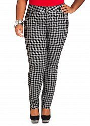 8e8ded9d79f Grey Black Houndstooth Jeggings. RaShondra · Ashley Stewart Collections