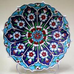 Çini Tabaklar İznik Kütahya Seramikleri Ottoman Ceramic Plates 18cm El Yapımı Hand Made Turkish Ceramics Cini Tabak gülser