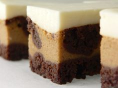 Espresso Cheesecake Brownies - in German, needs translator