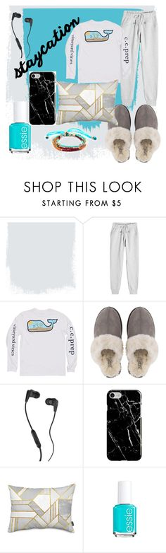 """""""staycation"""" by bakercakes ❤ liked on Polyvore featuring adidas, Vineyard Vines, UGG, Skullcandy, Recover and Essie"""