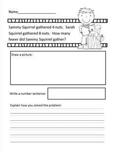 14 problem solving problems for 1st grade (1.OA.1) $