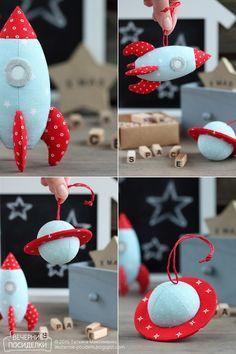 Космические ёлочные игрушки / Space Christmas ornaments