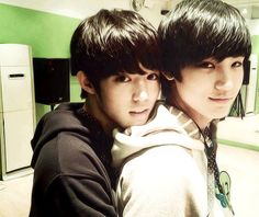 Luhan and Kai predebut. I really don't know what to say... So cute and whoahhhhh