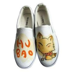Printed Canvas Slip-Ons from #YesStyle