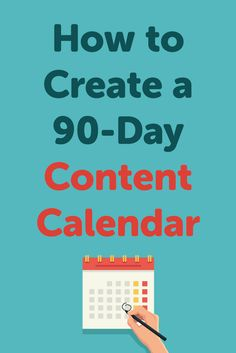 Do you know what content you'll publish this quarter? Check out this guide to learn how to create a 90-day content calendar for your blog. via @maryefernandez