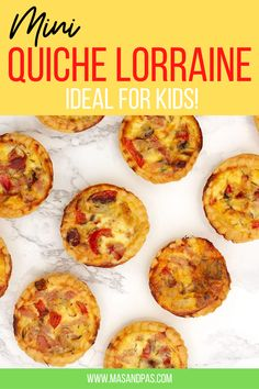 These mini quiches are the perfect brunch item for a crowd or great for meal prepping ahead of time for breakfast for the week. These have cheese, ham, onion and pepper but you can make any filling that you want. #quichelorraine #quicherecipe #miniquiches #breakfastideas #brunchrecipes Healthy Brunch, Healthy Meals For Kids, Healthy Breakfast Recipes, Kids Meals, Easy Meals, Lunch Box Recipes, Brunch Recipes, Brunch Ideas For A Crowd, Quiche Lorraine Recipe