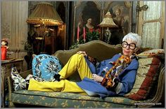 """Iris Apfel """"only one time, you might as well enjoy it"""""""