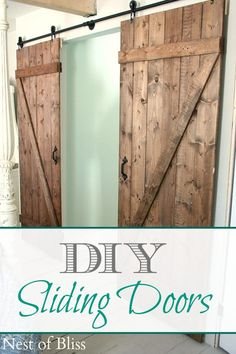 DIY Sliding Doors -via @INDI design Interiors - Nest of Bliss  (ps- her home DIY projects are amazing. If you aren't already following her boards, I recommend you do!)