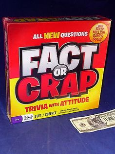 Trivia Board Game Fact or Crap It's Your Call Spin Master NIB Sealed Toys & Hobbies:Games:Board & Traditional Games:Contemporary Manufacture www.internetauctionservicesllc.com $12.99