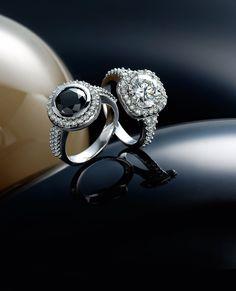 two white gold diamond rings Somerset West, White Gold Diamonds, Diamond Rings, Jewelry Collection, Vans, Wedding Rings, Seasons, Engagement Rings, Jewels