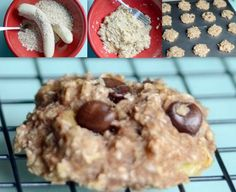 Banana Oatmeal Cookies - Only two ingredients... guess what they are ;)  Bake at 350 for 15 minutes!